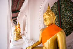Gold buddha temple in Thailand Stock Images