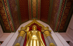 Gold buddha temple in Thailand Stock Photography