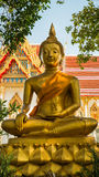 Gold buddha in thai temple. From nakhon prathom thailand Stock Photo