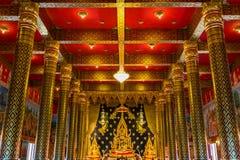 Gold Buddha in Wat Neramit Wipatsana, Loei Province, Thailand Stock Image