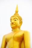 Gold Buddha on white background Royalty Free Stock Photos