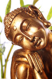 Gold buddhist statue Stock Image