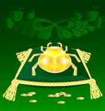 Gold-bug on the pillow Royalty Free Stock Images
