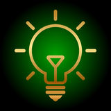 Gold bulb icon Royalty Free Stock Photo