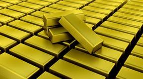 Gold bullion bars stock illustration