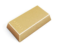 Gold bullion bars. On white background. 3d rendering Royalty Free Stock Image