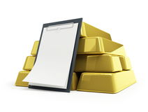 Gold bullion blank Royalty Free Stock Photo