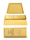 Gold bullion close-up Stock Image