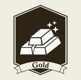 Gold bullion design Royalty Free Stock Photo