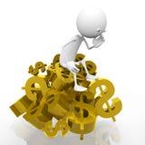 Gold bullion dollar Stock Photos