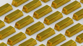 Gold bullion gold bar treasury wealth luxury finance goods trading. looping stock video