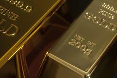 Gold bullion. On black background Stock Photo