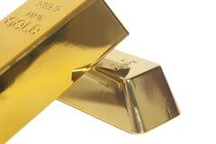 Gold bullion. Isolated on white background Stock Images