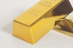 Gold bullion. On white background Royalty Free Stock Photography