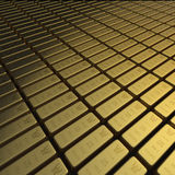 Gold bullion or ingots in extensive array Royalty Free Stock Images