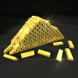 Gold bullion Stock Photos