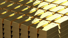 Gold bullion ordered Stock Image