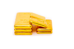 Gold bullion. Thailand gold bullion size twenty baht ten baht and five baht Royalty Free Stock Photography