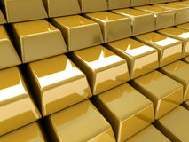 Gold bullions Royalty Free Stock Photo
