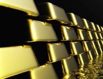 Gold Bullions Stock Image