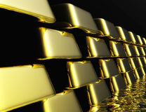 Gold Bullions Royalty Free Stock Photography