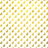 Gold Bunny Faux Foil Background Bunnies Pattern Stock Photography