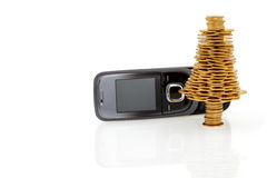 Gold business, buy the  mobile phone for Christmas Stock Photos