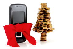 Gold business, buy the  mobile phone for Christmas Stock Photo