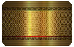 Gold business card. Stock Images