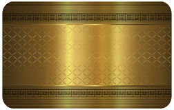 Gold business card. Royalty Free Stock Images