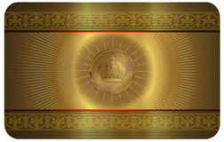 Gold business card. Royalty Free Stock Photo