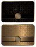 Gold business card template. Stock Photos