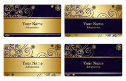 Gold business cards Stock Image