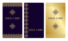 Gold business cards Stock Images