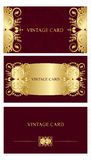 Gold business cards Royalty Free Stock Photos