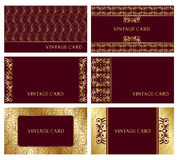 Gold business cards Royalty Free Stock Image