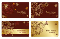 Gold business cards Stock Photography