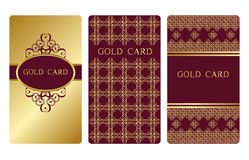 Gold business cards Stock Photo