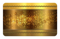 Gold business or gift card template. Royalty Free Stock Photo