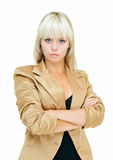 Gold business lady Stock Images