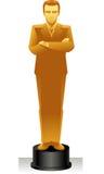 Gold businessman statue Stock Image