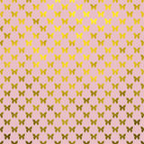 Gold Butterflies Polka Dot Metallic Faux Foil Pink Background Stock Images