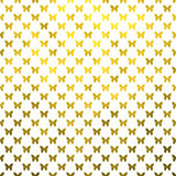 Gold Butterflies Polka Dot Metallic Faux Foil White Background Stock Photography