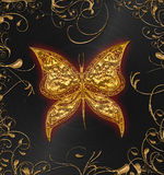 Gold butterfly Stock Photo