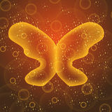 Gold butterfly Stock Images