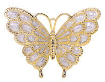 Gold butterfly decoration Royalty Free Stock Photos
