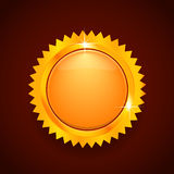 Gold button or logo Royalty Free Stock Photos