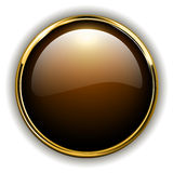 Gold button. Shiny metallic, vector illustration Stock Images