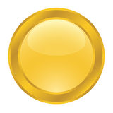 Gold button for web Stock Photos