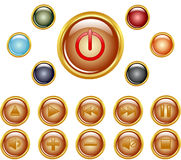 gold buttons. Royalty Free Stock Photos